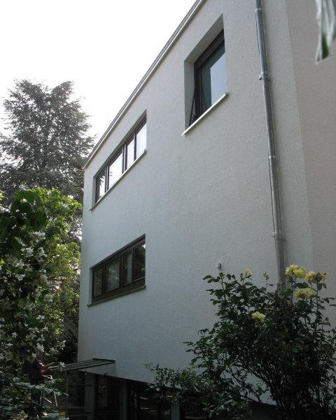 Einfamilienhaus mit Wärmedämmung im Verbundsystem gedämmt